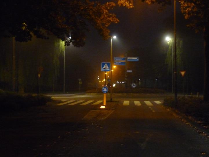 Verlichting op rotonde_Nieuwe Tielselweg in Tiel