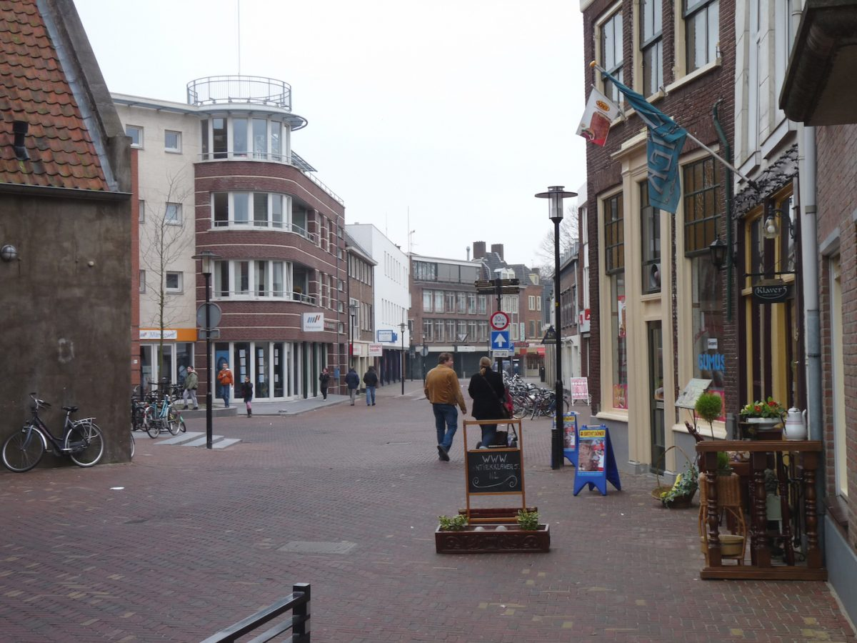 Damstraat in Tiel - shared space