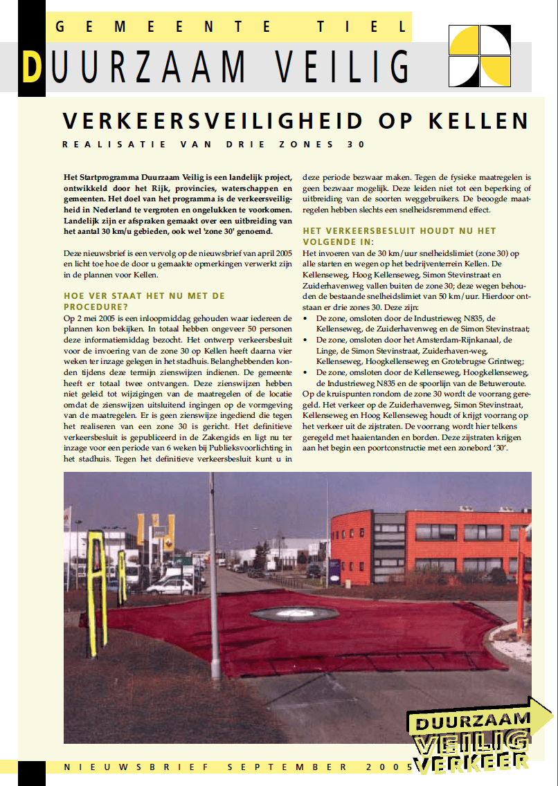 bedrijventerrein Kellen_in Tiel-_voorblad_nieuwsbrief