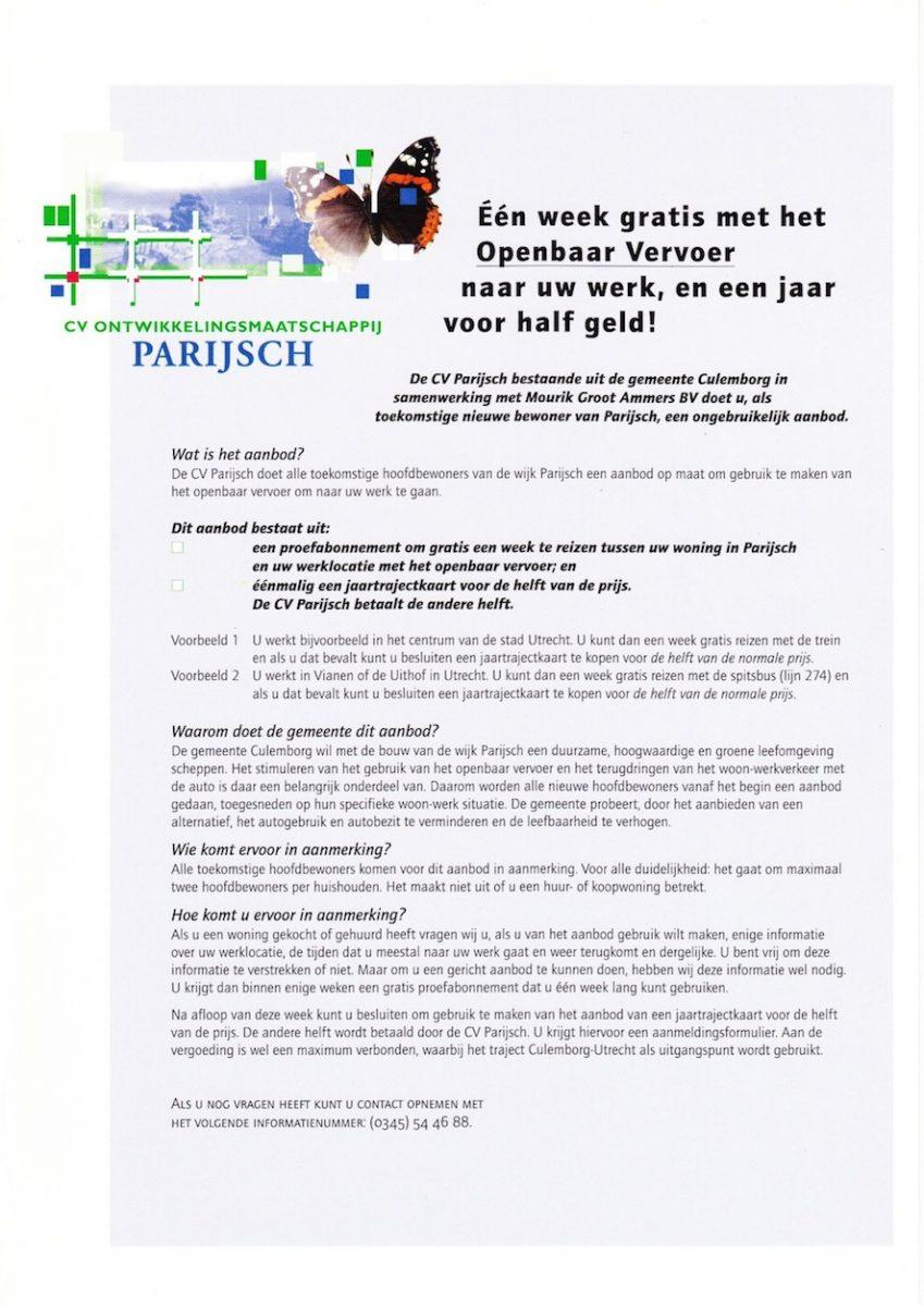 Culemborg: Parijsch_week gratis OV
