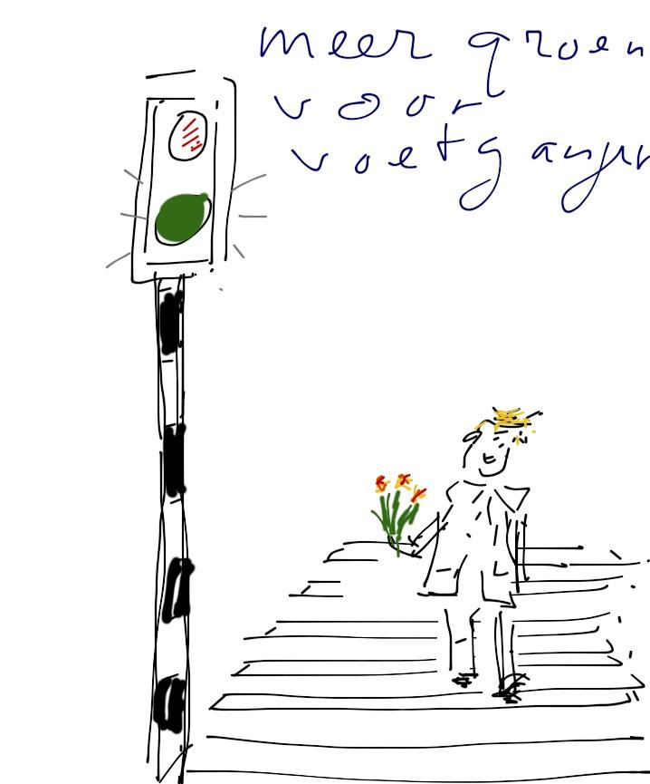 Meer groen voor de voetganger